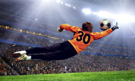 role of Football goalman on the stadium field