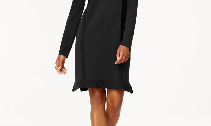 Style & Co Cold-Shoulder Sweater Dress $13.96