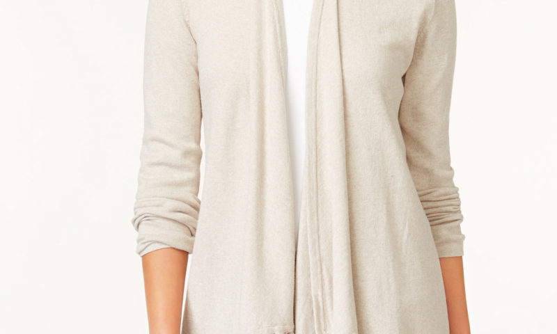 Fringe-Hem Open Cardigan $13 was $70