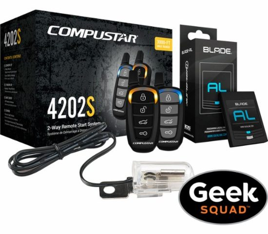 Compustar – CS4202-S-KIT 2-Way Remote Start System with Tilt Switch and Geek Squad® Installation $270 was $740