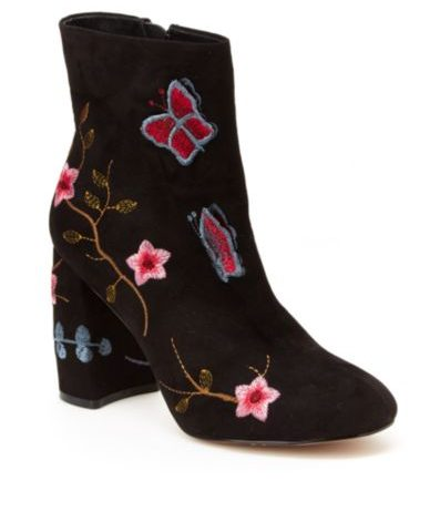 Lilly Embroidered Booties  $46 was $129