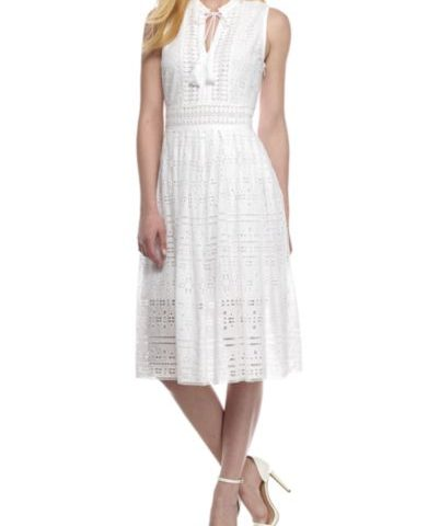Sleeveless Eyelet Dress $29 was $120