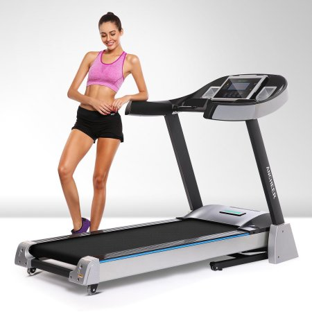 4.5 HP Electric Treadmill Folding 15% Incline Treadmill Health Fitness Motorized Power Gym Running Machine with Wide Belt GOGBY $1200 was $2700