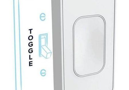 On-Wall Indoor Smart Switch (Toggle), No Hub Required $18 was $40