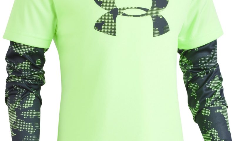 Under Armour Layered-Look Logo-Print T-Shirt, Little Boys $11 was $30