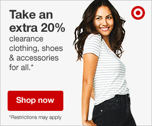 Extra 20% off apparel & accessories clearance.