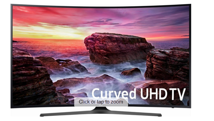 Samsung – 55″ Class (54.6″ Diag.) – LED – Curved – 2160p – Smart – 4K Ultra HD TV $549