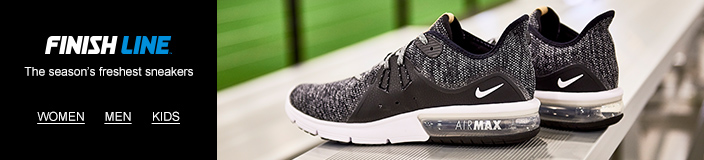 Shop 25-75% off select Finish Line Sneakers.