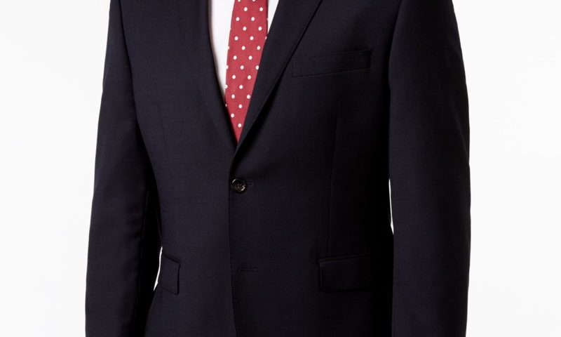 Men's Slim-Fit Dark Navy Total Stretch Sport Coat $60 was $350