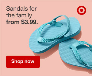 Sandals from $3.99 for the whole fam.