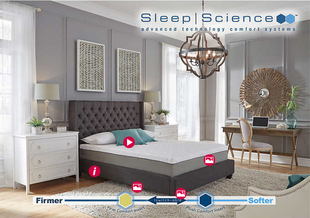 Sleep Science iSwitch Comfort 10″ Queen Mattress for $499 from $750