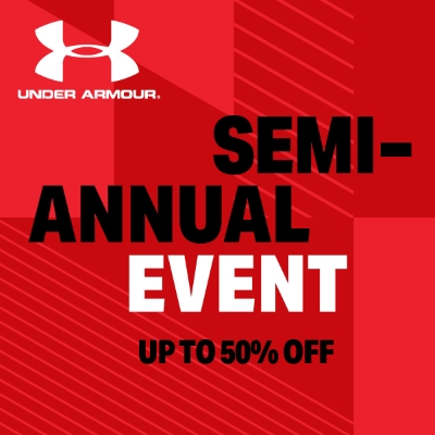 Under Armour – Semi-Annual Event Up to 50% Off Entire Store