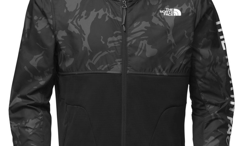 The North Face Men's Printed Full-Zip Fleece Hooded Jacket 50% Off