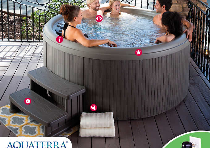 Aquaterra Spas Newporter 3.0 22-jet, 5-person Spa for $2,199 from $3,000