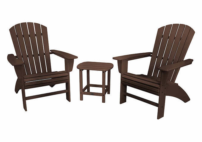 Prescott 3-piece Shellback Adirondack Set by POLYWOOD for $399 from $549