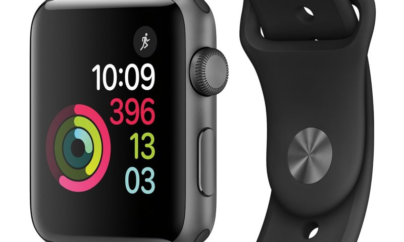 Apple Watch Series 2 42mm Space Gray Aluminum Case with Black $299