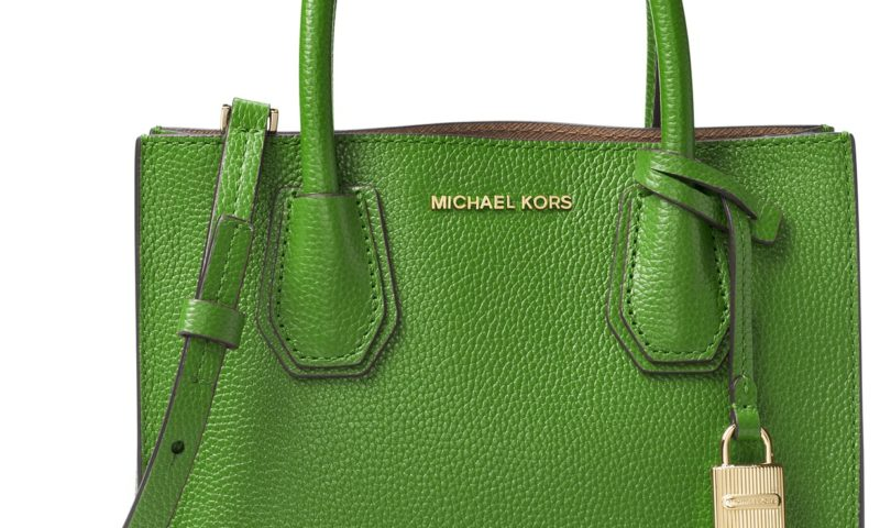 Michael Kors Mercer Medium Bonded-Leather Crossbody for less than $100