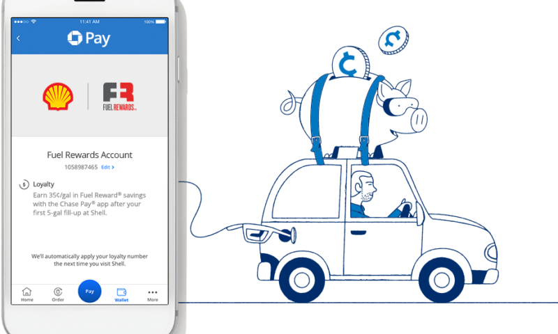 Earn 35¢/gal at Shell with the Chase Pay app