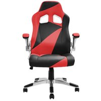 Costway PU Leather Executive Racing Style Bucket Seat Office Chair Desk Task Computer $69