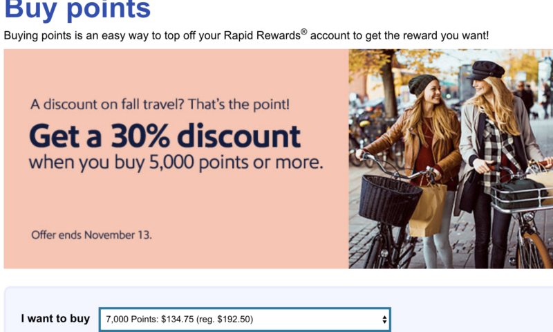 Is It Worth Purchasing Southwest Points with a 30% Bonus?