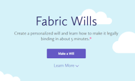 Fabric Wills helps you create a personalized will for free.
