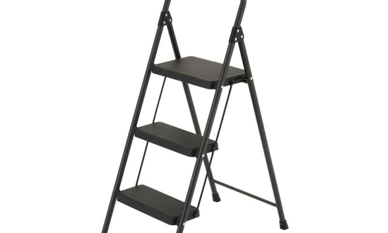 3-Step Compact Steel Step Stool with 225 lb $9.99