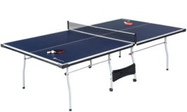 Official Size Table Tennis Table, with Paddle and Balls, Blue/White $99