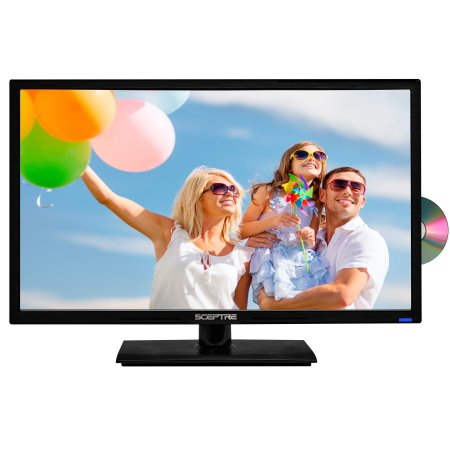 Sceptre 24″ Class FHD (1080P) LED TV (E246BD-F) with Built-in DVD $89 was
