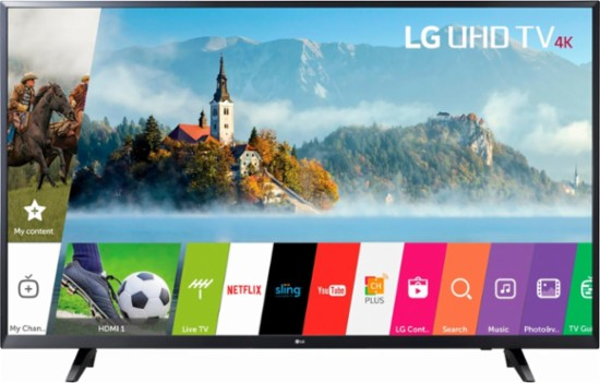 LG – 49″ Class (48.5″ Diag.) – LED – 2160p – Smart – 4K Ultra HD TV for $399 from $550