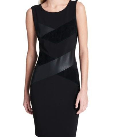 Calvin Klein Calvin Klein Faux Leather and Suede Mix Dress $30 was $120