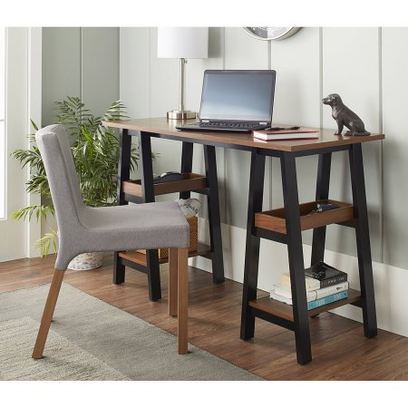 10 Spring Street Sawyer Work Table, Black and Walnut $58 was $126
