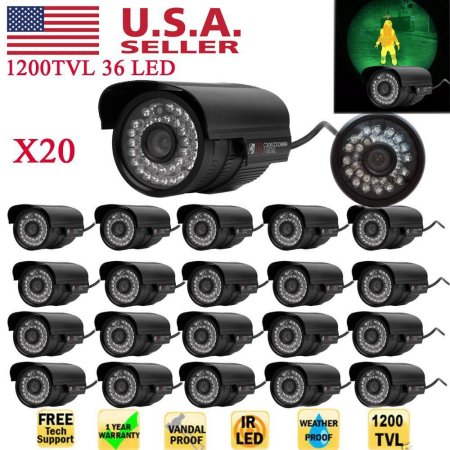 20pcs 1200TVL 36 LED Lights Night Vision Waterproof 6mm Lens HD Digital Camcorder $15 was $31