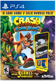 Crash Bandicoot N. Sane Trilogy Sock Bundle – Only at GameStop by Activision for $29 from $40