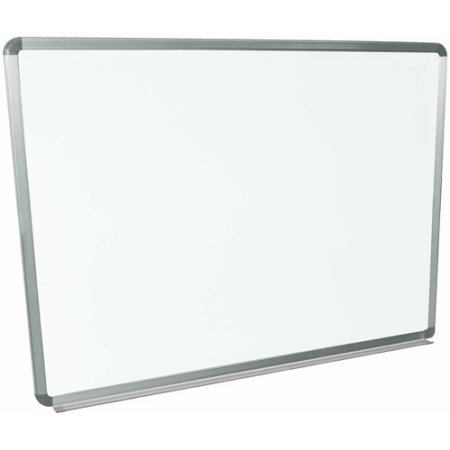 Luxor Wall Mounted Magnetic Whiteboard, 48″ x 36″, Aluminum Frame for $48 from $62