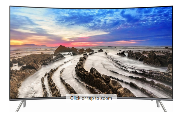 Samsung – 65″ Class (64.5″ Diag.) – LED – Curved – 2160p – Smart – 4K Ultra HD TV with High Dynamic Range $1129