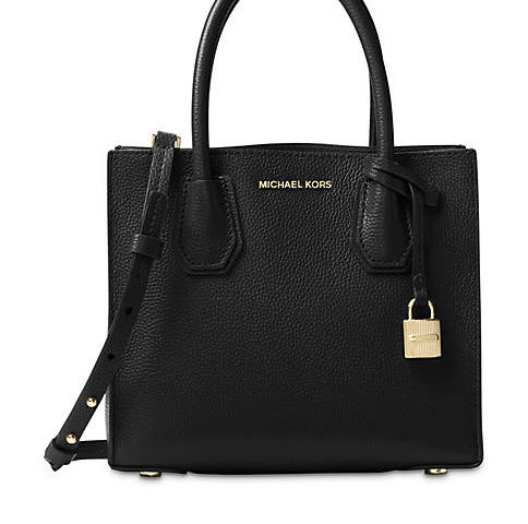 Michael Kors Studio Collection Mercer Medium Bonded-Leather Tote for $186 from $248