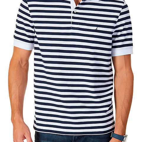 Classic Fit Striped Performance Polo Shirt $29