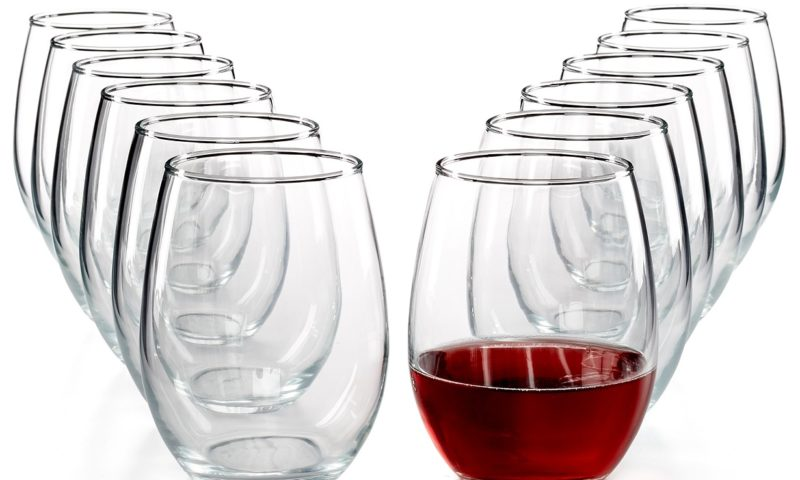 Martha Stewart Essentials 12-Pc. Stemless Wine Glasses Set $9