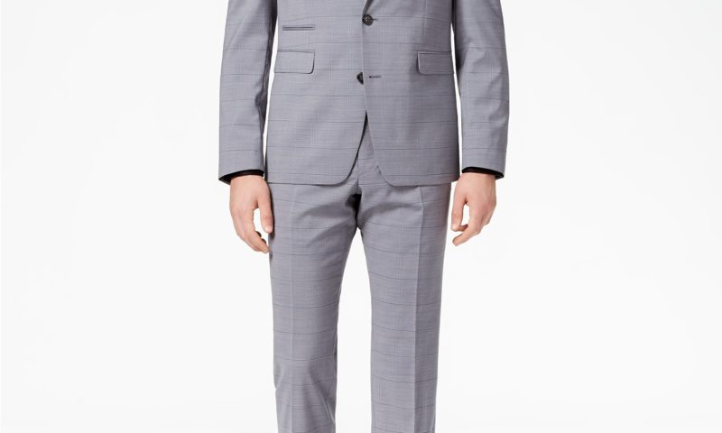 Vince Camuto Men's Slim-Fit Stretch Medium Gray Windowpane Suit for  $209.99 from $695.00 Extra 20% off code: FALL