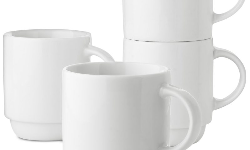Martha Stewart Essentials 4-Pc. Stackable Mug Set 70% Off