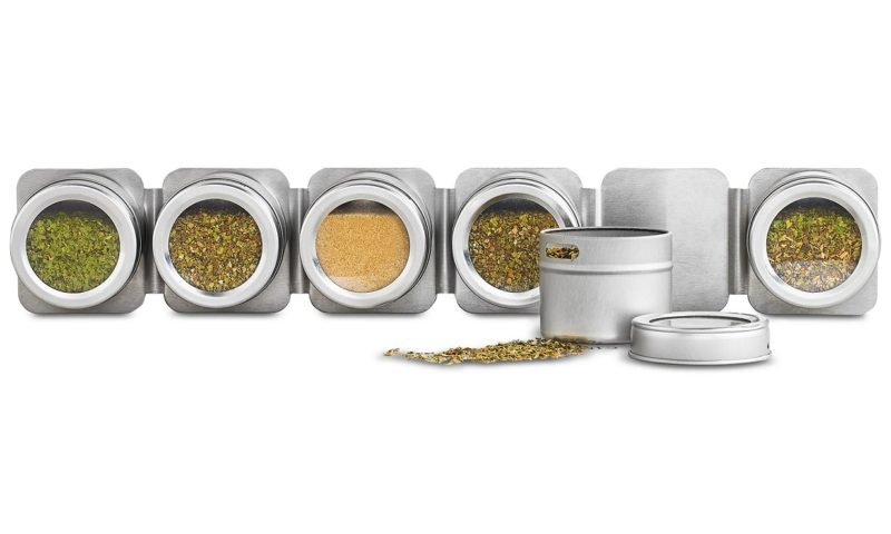 Martha Stewart Collection Magnetic Tin Spice Rack 60% Off