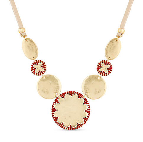 Jewelry sale –  Lucky Brand Gold-Tone Threaded Collar Necklace