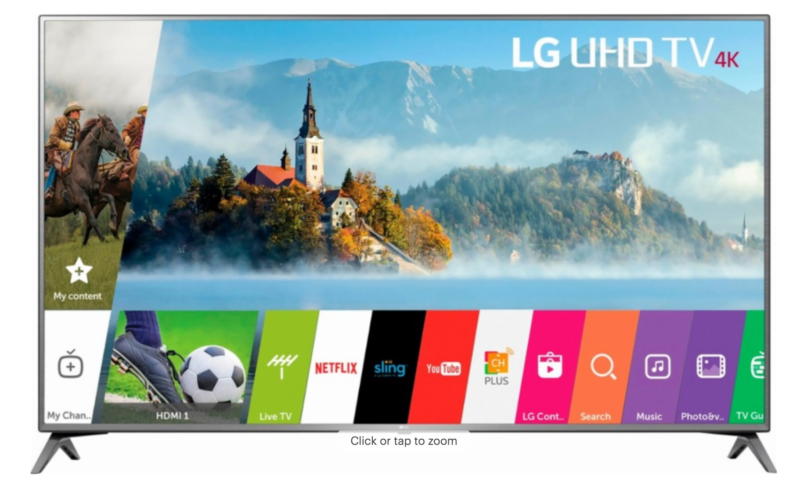LG – 70″ Class – LED – UJ6570 Series – 2160p – Smart – 4K UHD TV with HDR $1106