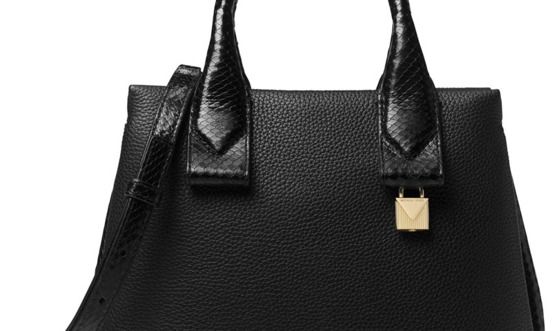 Michael Kors Rollins Small Python-Embossed Satchel 60% Off