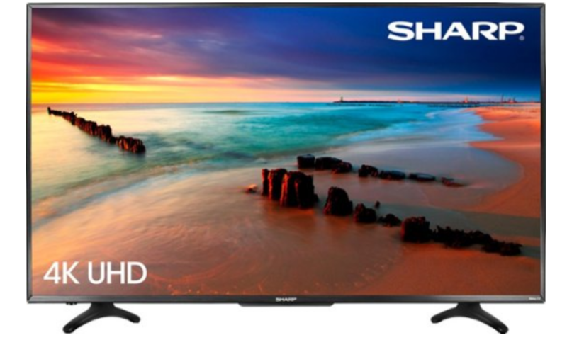 Sharp – 50″ Class – LED – 2160p – Smart – 4K UHD TV with HDR Roku TV $299