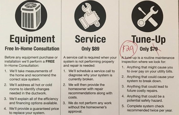 Home Heating and Cooling Tune up