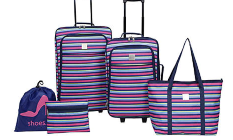 Dress Stripe Luggage Set 5-Piece was <strike>$180</strike>  $39