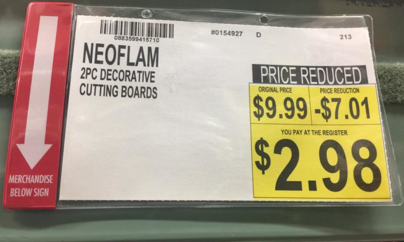 Neoflam 2 Piece Plastic Cutting Board Set in White and Green $2.98