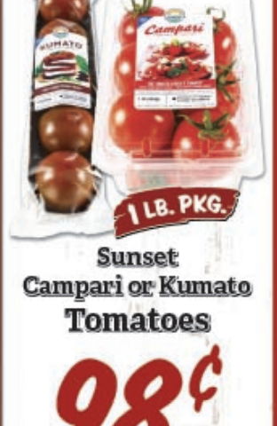 72hr sale – fresh tomato 1lb 98cents