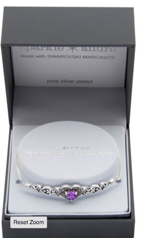 Sparkle Allure Genuines Multi Color Pure Silver Over Brass Heart Bolo Bracelet for $22.99 from $18.39